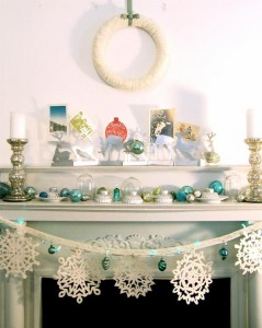 Christmas decor white