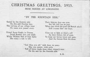 Christmas greetings By the fountain side message