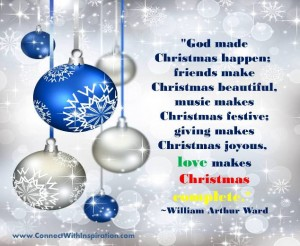 Christmas love makes Christmas happen quote