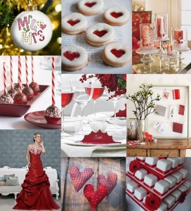 Christmas red Christmas wedding mood board