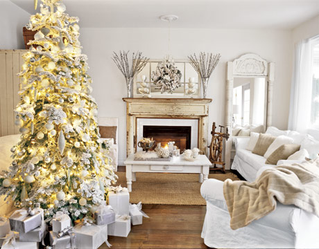 White Christmas Decorations Bright and White Christmas Home