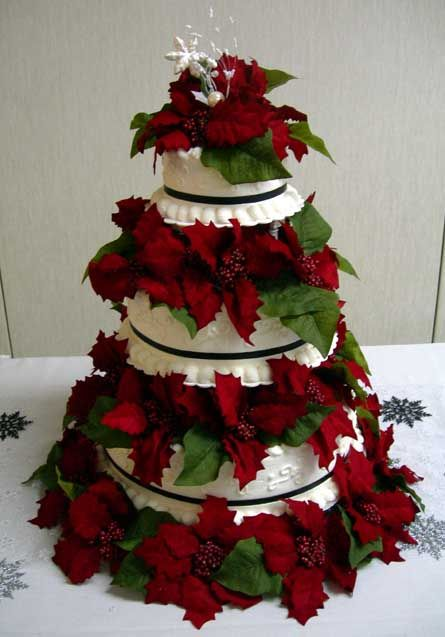 zoom from wwwabiaweddingscoza christmas wedding cake