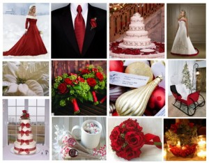 Christmas wedding flowers ideas