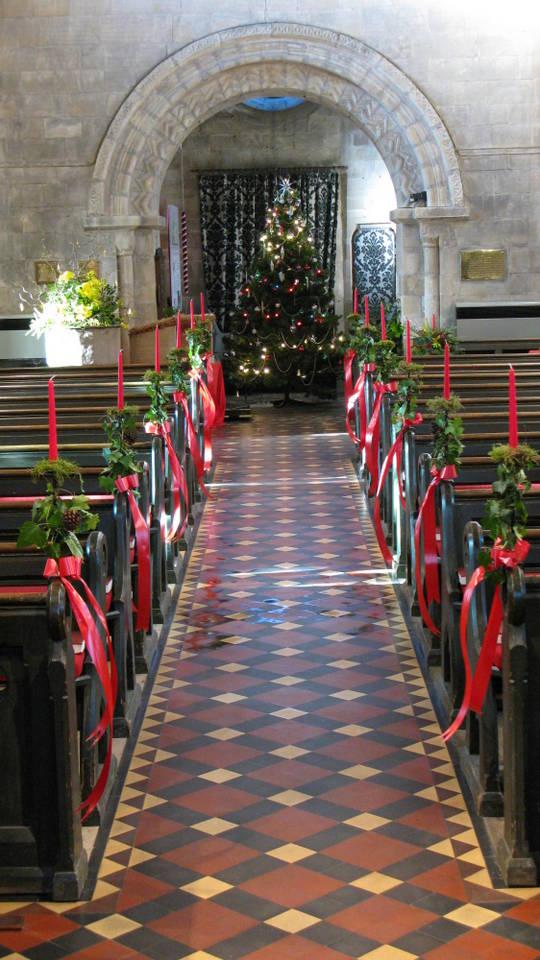 church Christmas flowers 031