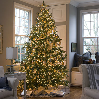 decorated Christmas tree southern living