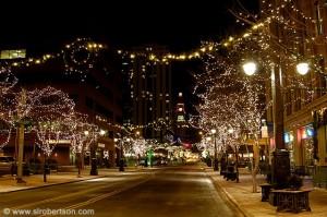 Denver downtown Xmas lights 1