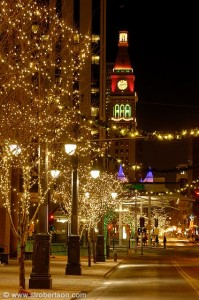 Denver downtown Xmas lights 3
