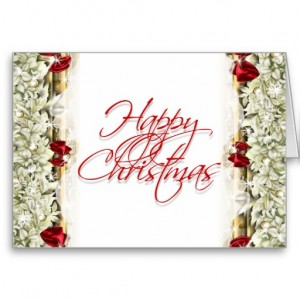 Elegant Christmas greeting message blank greeting cards from Dazzle