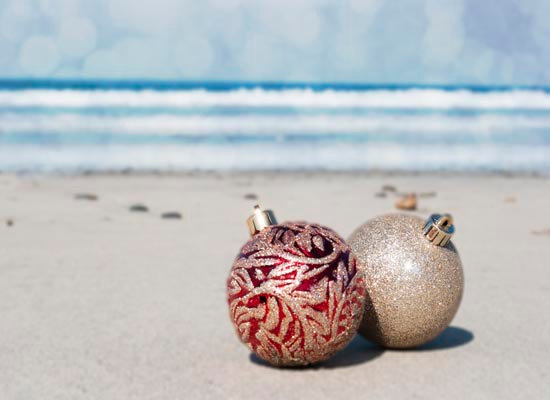 Christmas Card Ornaments Card Beach Holiday By Bree Madden On Essy