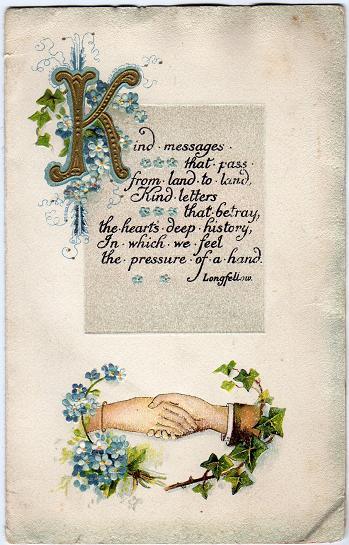kind messages tuck christmas card pin xmas
