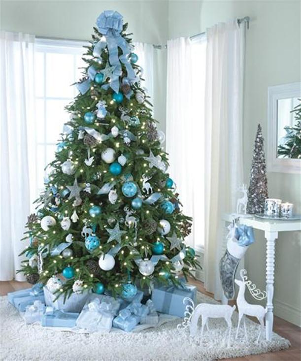 Latest christmas tree different white snow decoration for Xmas tree decoration ideas
