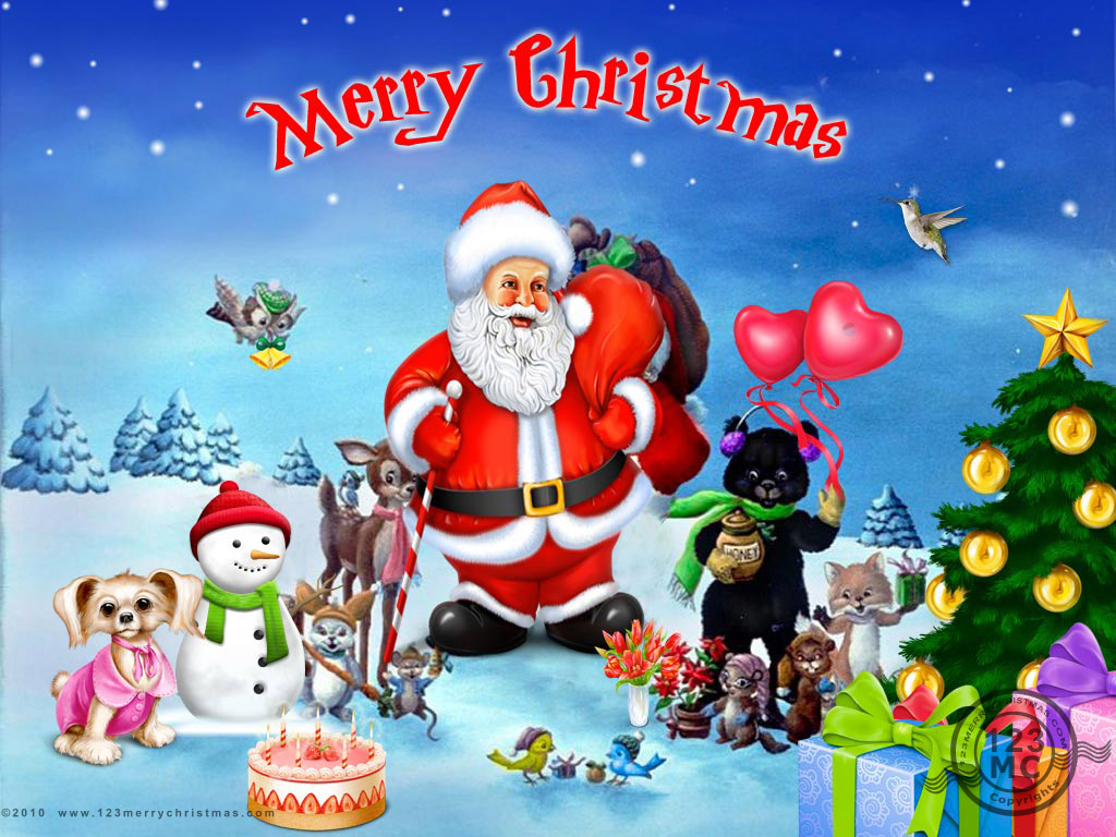 merry christmas with santa clause - Merry Christmas Pics