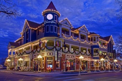 Parker Colorado Christmas carriage parade shopping