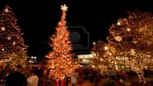 annual Christmas tree lighting at the streets