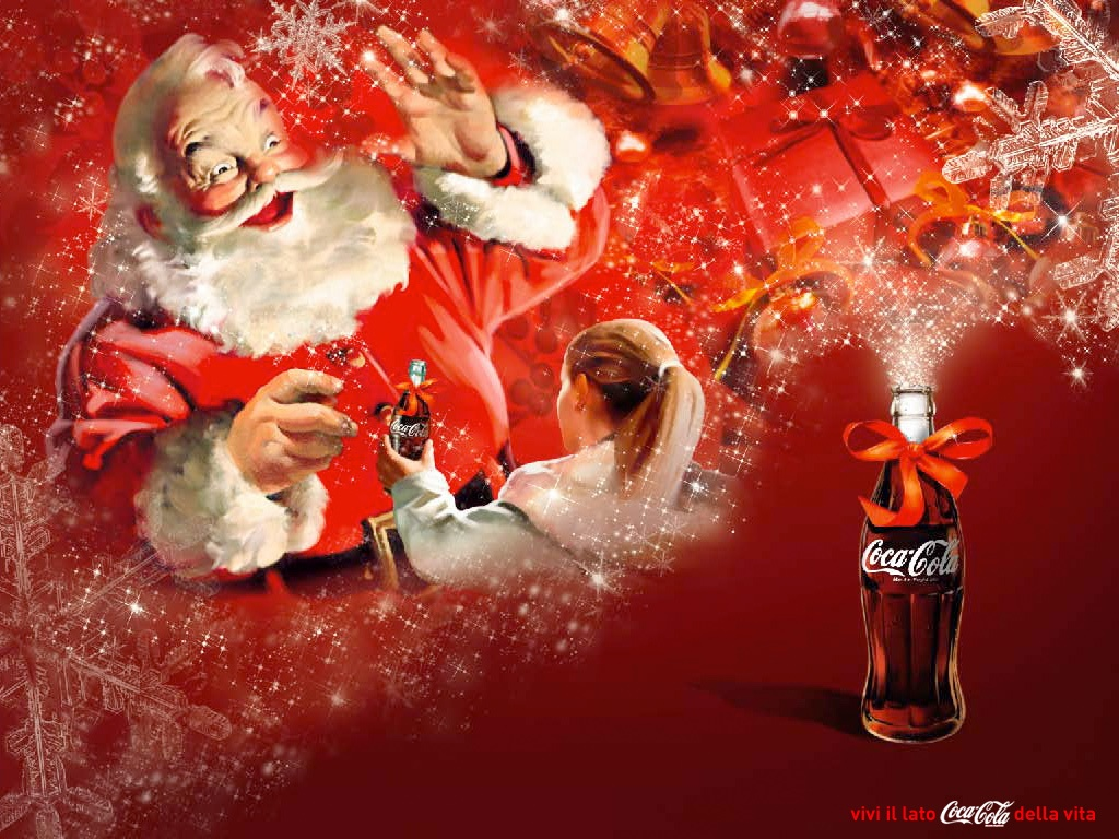 santa claus coca cola wallpaper pin xmas