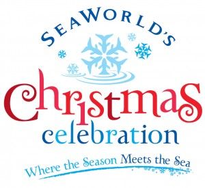 sea worlds Christmas celebration logo