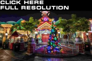Wallpapers USA Parks Disneyland Christmas tree HR Night