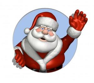 tumble static Santa