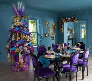 Christmas Decoration in Magenta Color