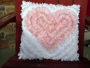 Ruffle Heart Pillow