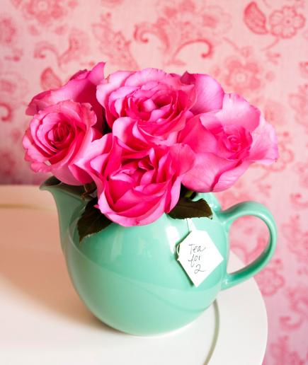 Tea Time Fill A Pretty Teapot With Flowers For