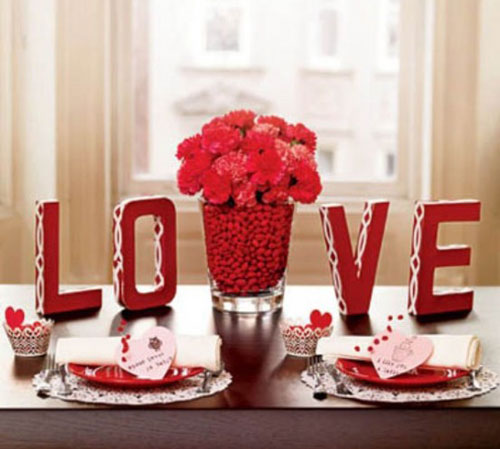 Valentine love table