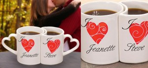 Personalized Heart Mugs