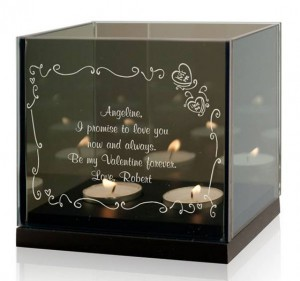 Dear Valentine Personalized Tealight Candle Holder
