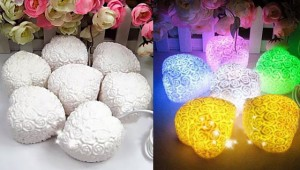MagicLightz LED Heart-shaped Rose-bearing Color Changing Light