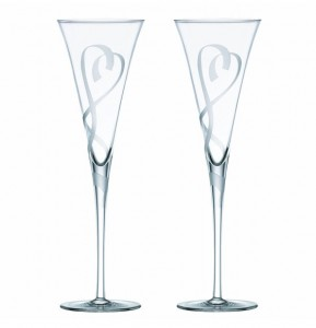 Lenox True Love Crystal Flute Pair