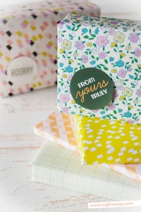 Printable Gift Wrap on Wolf and Willow