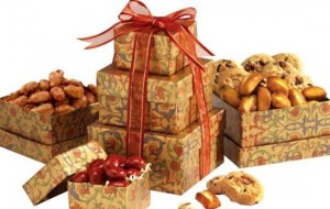 Broadway Basketeers Gourmet Mini Holiday Gift Tower of Sweets For Valentine's Day