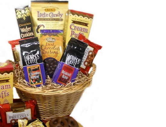 Delight Expressions Coffee & Chocolate Lovers Gourmet Food Gift Basket