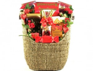 Basket For Romance Or Valentine's Day
