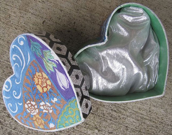 A Heart Shaped Hand Painted – Valentine Gift Box