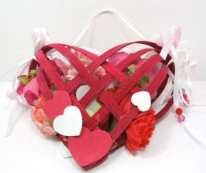 Valentine Basket Heart – Valentine Gift Box – Valentine Heart Decoration