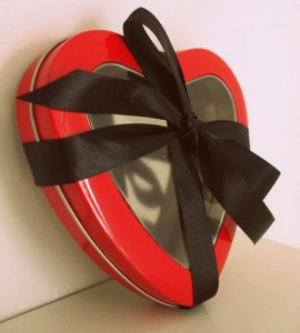 Heart Gift Tin Valentines Box