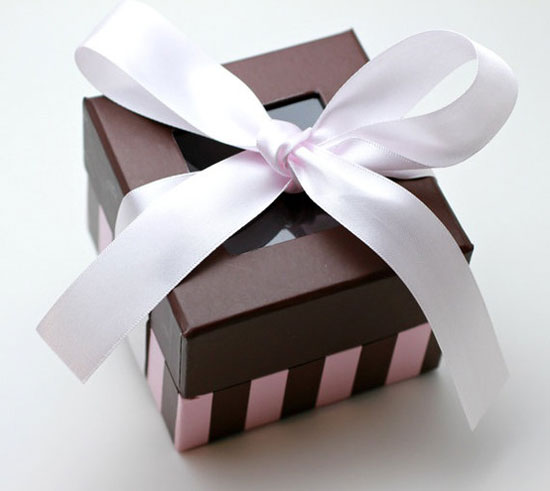 Valentine Pink & Brown Gift Box Or Red Gift Box, Paper Box