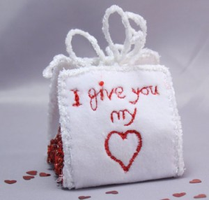 Valentine Gift Favour Box I Give You My Heart Love Romance Wedding Anniversary Red & White