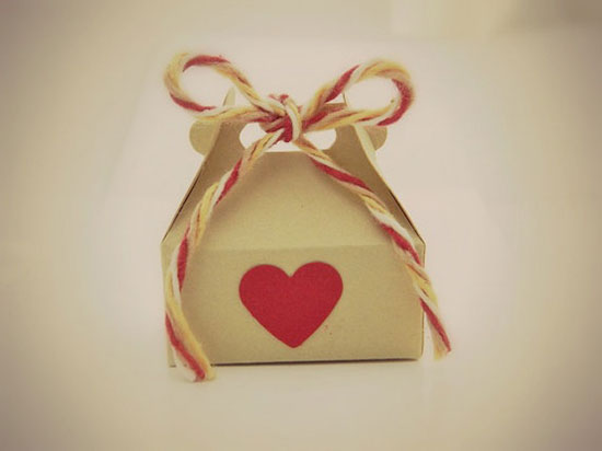 Valentine's Day Box – Box for Rings – Gift Bag. Heart, Red, Kraft, Brown, Girl, Love, Candy, Wedding,