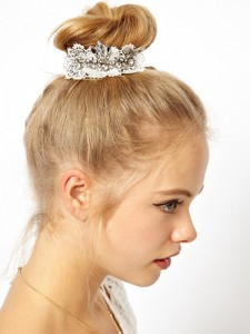 Bling buns Topknots are the easiest up-dos ever. Here's how to make yours look more glam party than gym sesh-ready.
