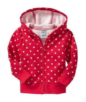 Heart Graphic Hoodie She may be too little to fall in love (phew), but she can still show her spirit on February 14.