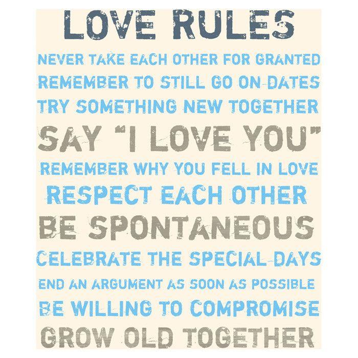 Love Rules Canvas Art