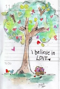 I believe in love / Blue Chair Diary Illustrations