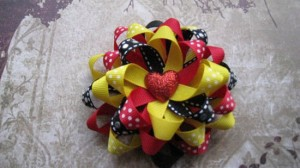 Valentine's Loopy Flower Hair Bow