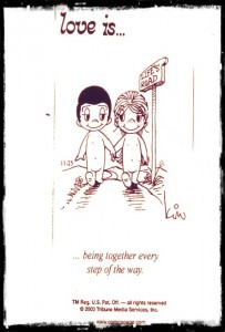 love is… being together every step of the way…