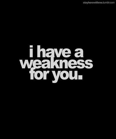 i have a weakness for you…. too cute!
