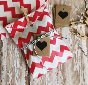 Bitty Bags with Clothespins & Heart Tags