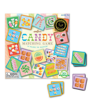 Candy Matching Game A twist on the classic game of Memory will strike a sweet spot with the Willie Wonka fanatic in the household.