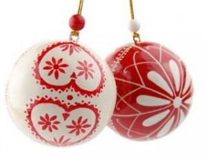 Folklore Christmas Baubles.